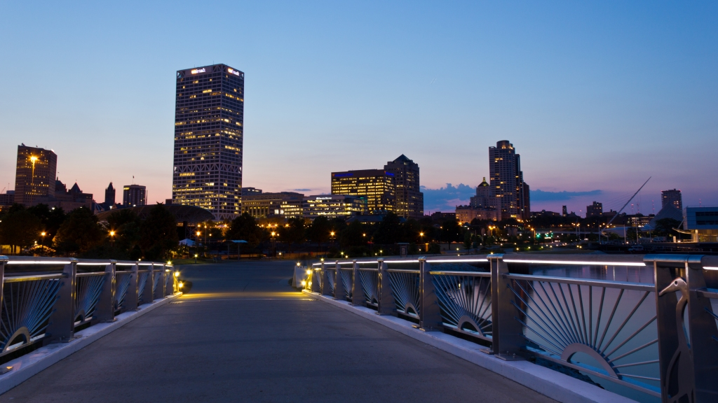Milwaukee Skyline at Sunset